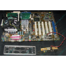 Материнская плата Asus P4PE (FireWire) с процессором Intel Pentium-4 2.4GHz s.478 и памятью 768Mb DDR1 Б/У (Люберцы)