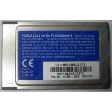 Сетевая карта 3COM Etherlink III 3C589D-TP (PCMCIA) без LAN кабеля (без хвоста) - Люберцы